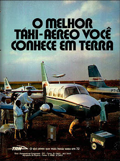 propaganda Táxi Aéreo TAM - 1973. brazilian advertising cars in the 70. os anos 70. história da década de 70; Brazil in the 70s. propaganda carros anos 70. Oswaldo Hernandez.