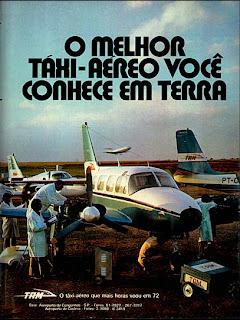 propaganda Táxi Aéreo TAM - 1973. brazilian advertising cars in the 70. os anos 70. história da década de 70; Brazil in the 70s. propaganda carros anos 70. Oswaldo Hernandez.