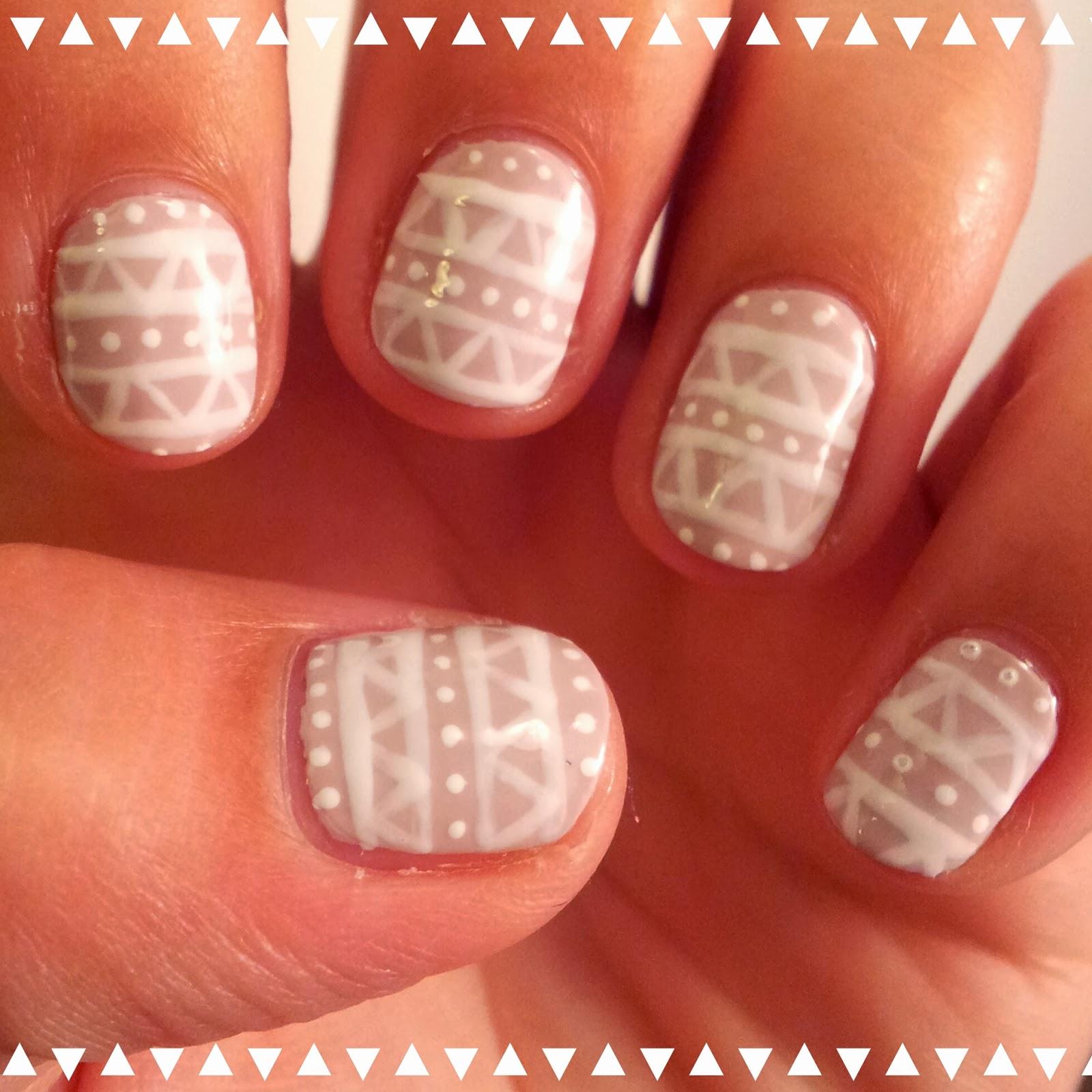 Dahlia Nails: Winter Aztec