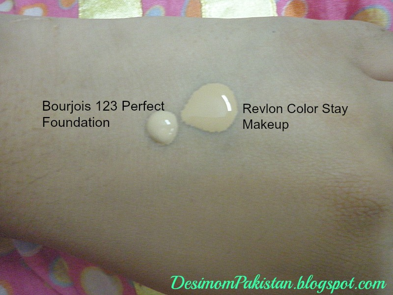 BOURJOIS 1 2 3 PERFECT FOUNDATION In SHADE 53 BEIGE swatch