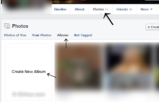 How to create new shared album on facebook