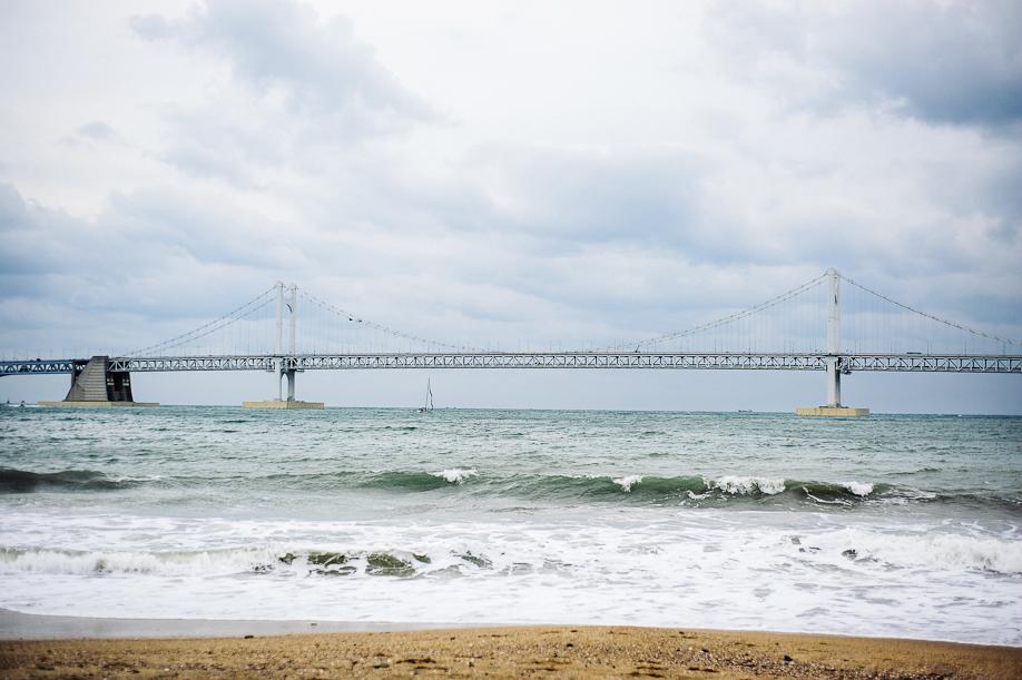Gwangali Bridge, destination wedding photographer, charleston wedding photography, korean engagement photos,