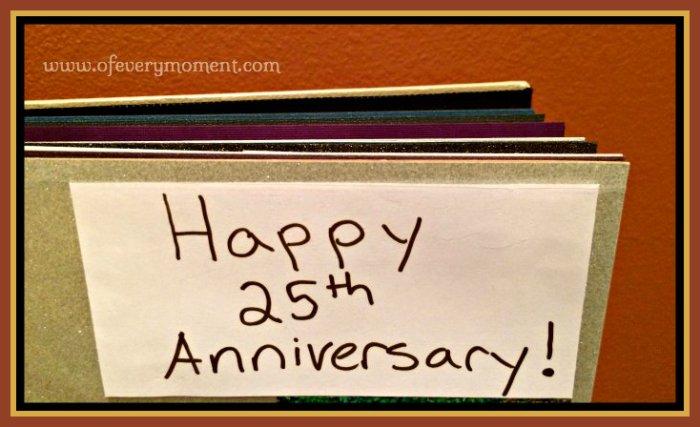 gift, 25th anniversary