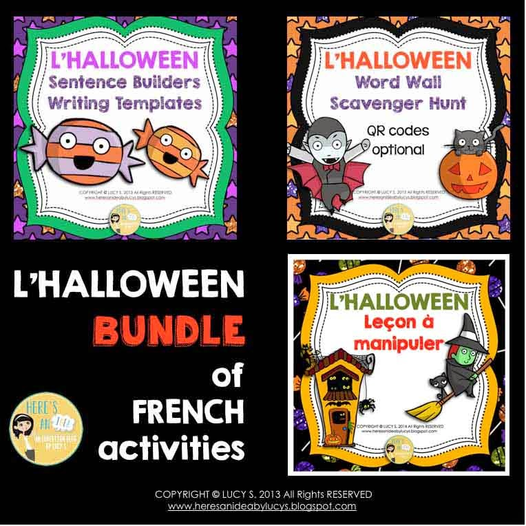 French Halloween Bundle of Resources