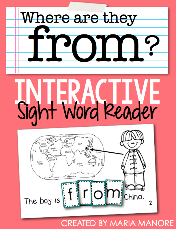 "emergent reader for sight word ""FROM"""