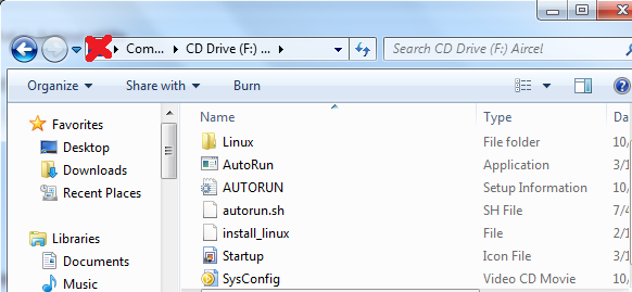 Autorun configuration file