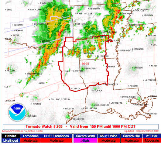 Tornadoes in Arkansas Map Tornado Watch Arkansas And