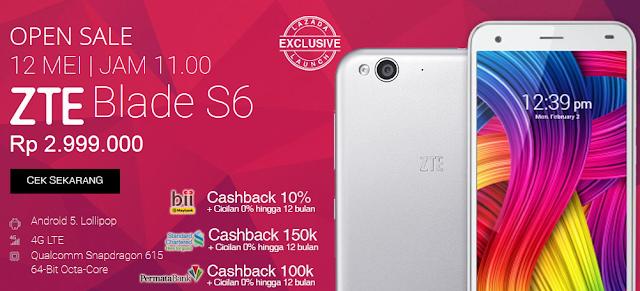open sale ZTE S6