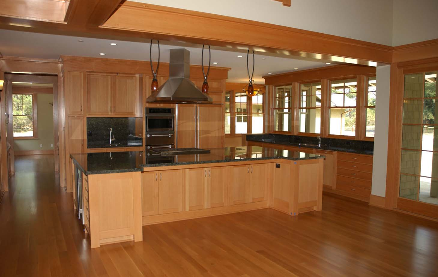 Selection of furniture for the kitchen in color and style 89
