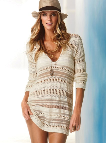 vs cotton crochet tunic sweater $ 59 50 vs striped linen cover up ...