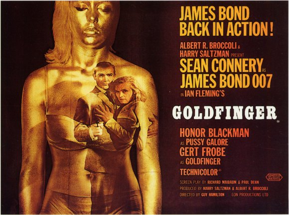 Goldfinger James Bond movie poster