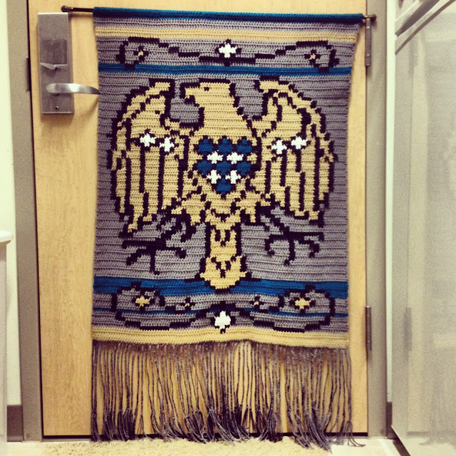 crochet eagle tapestry