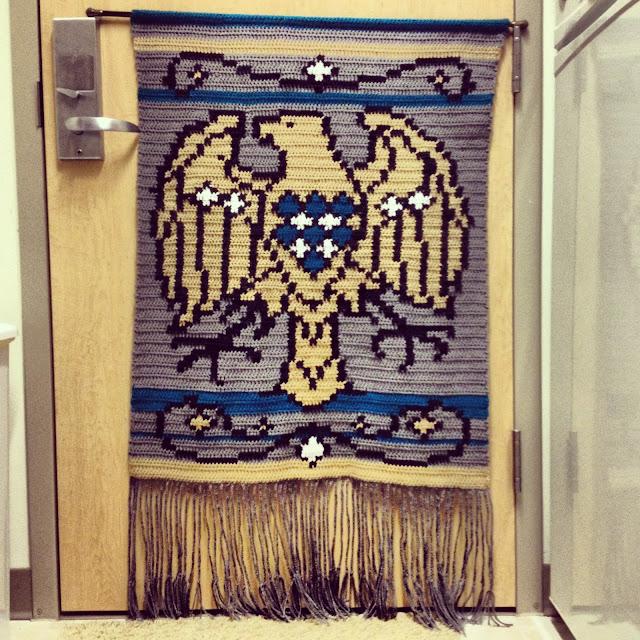 crochet eagle tapestry