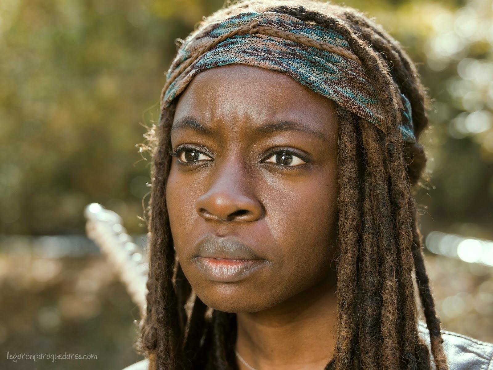 Michonne en la segunda mitad de la quinta temporada