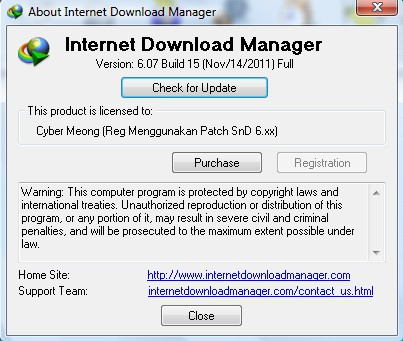 serial number internet  manager 6.05 build 14