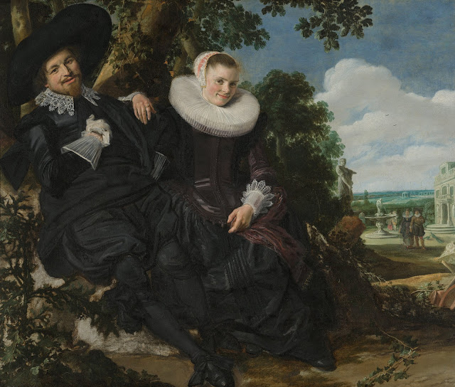 Frans Hals, Married Couple in the Garden,Self Portraits