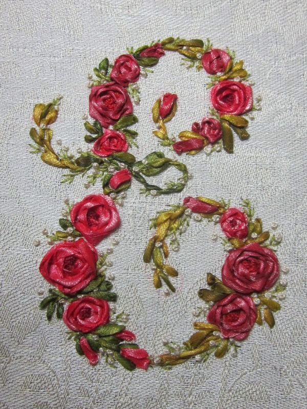 Elisabetta ricami a mano silk ribbon embroidery