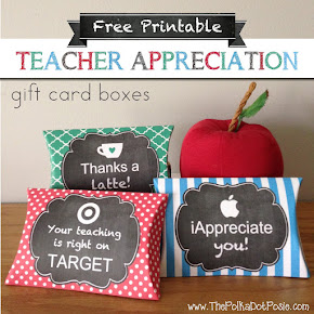Teacher Appreciation Printable Gift Boxes