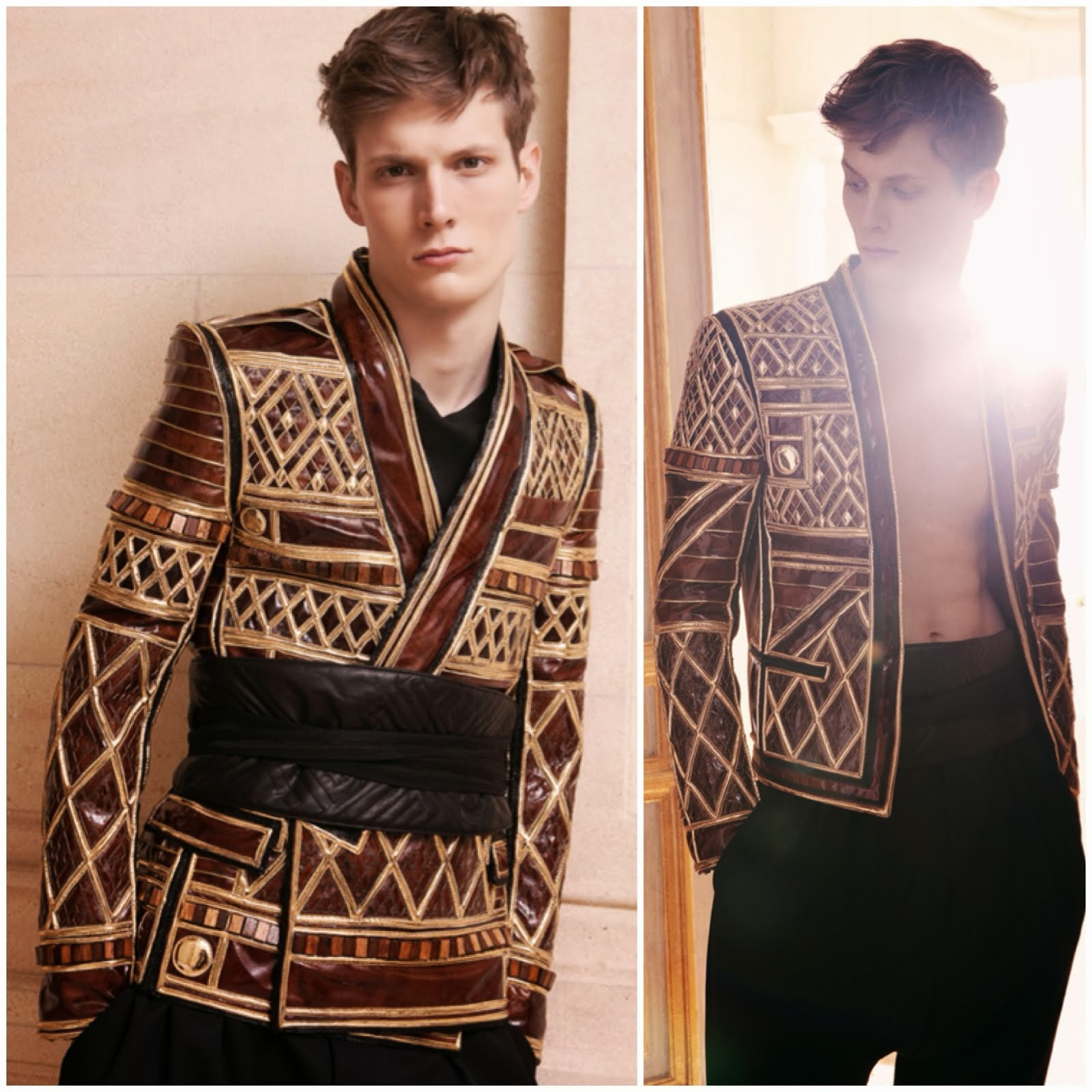 Balmain Fall Winter 2013 Leather and Gold Trophy Jacket, 1000 hours £16,000 exclusive to Harrods