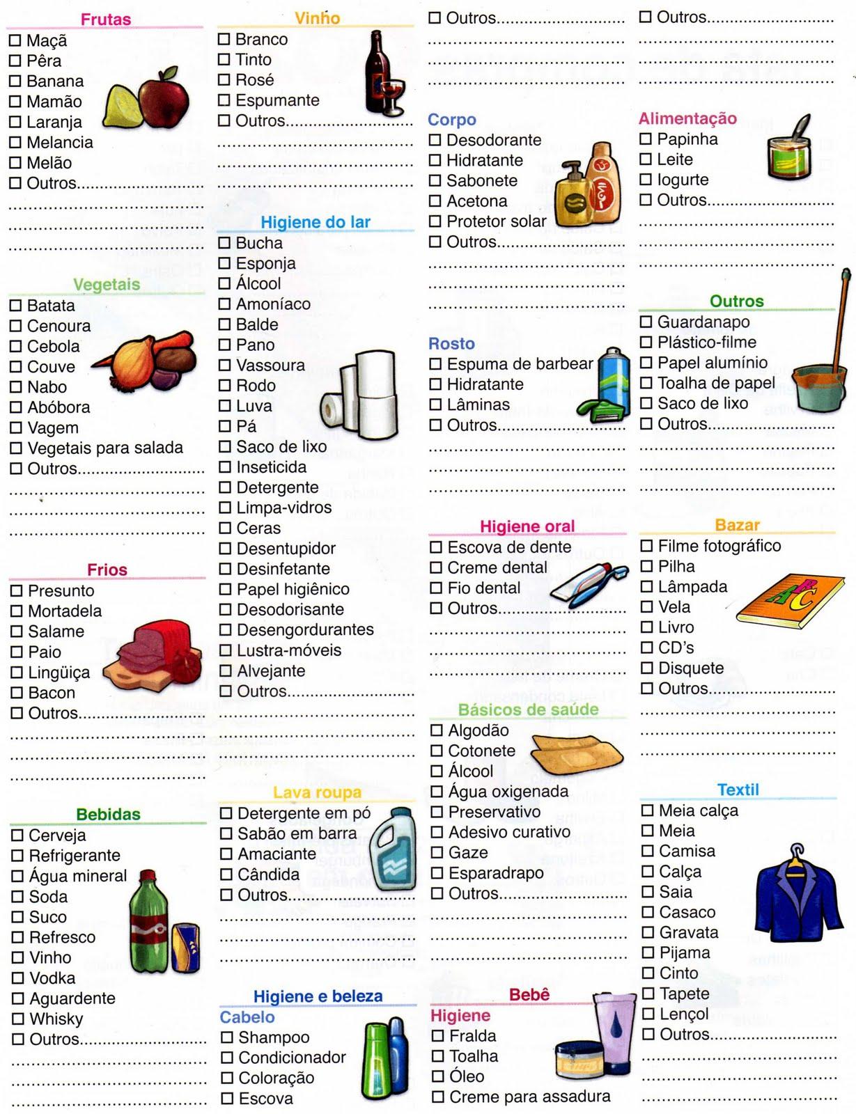 Blog Cibele Leite Lista De Compras De Supermercado