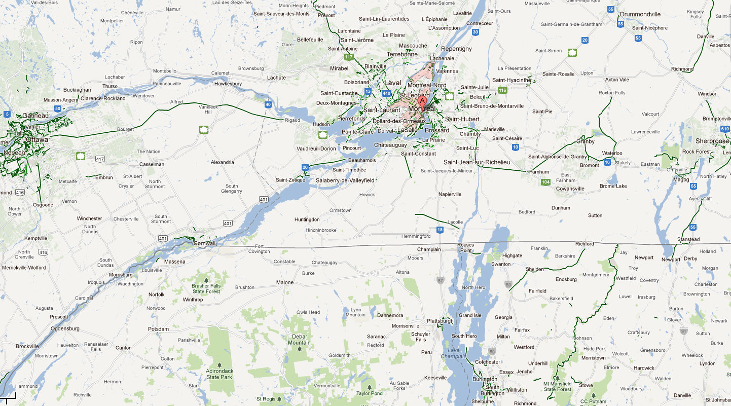 cycle fun montreal google maps bike paths montreal region big picture. Black Bedroom Furniture Sets. Home Design Ideas