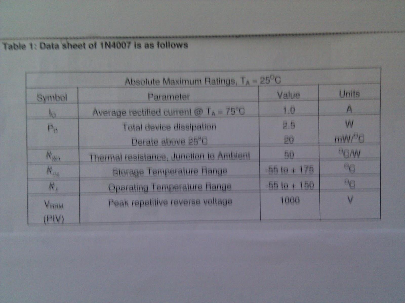 Automotive Electronics 4847 Practical Workbook Blog 1 Mohammed Resistor Symbols Colour Code Tolerance Power Ratings Resistance 1n4007 Data Sheet