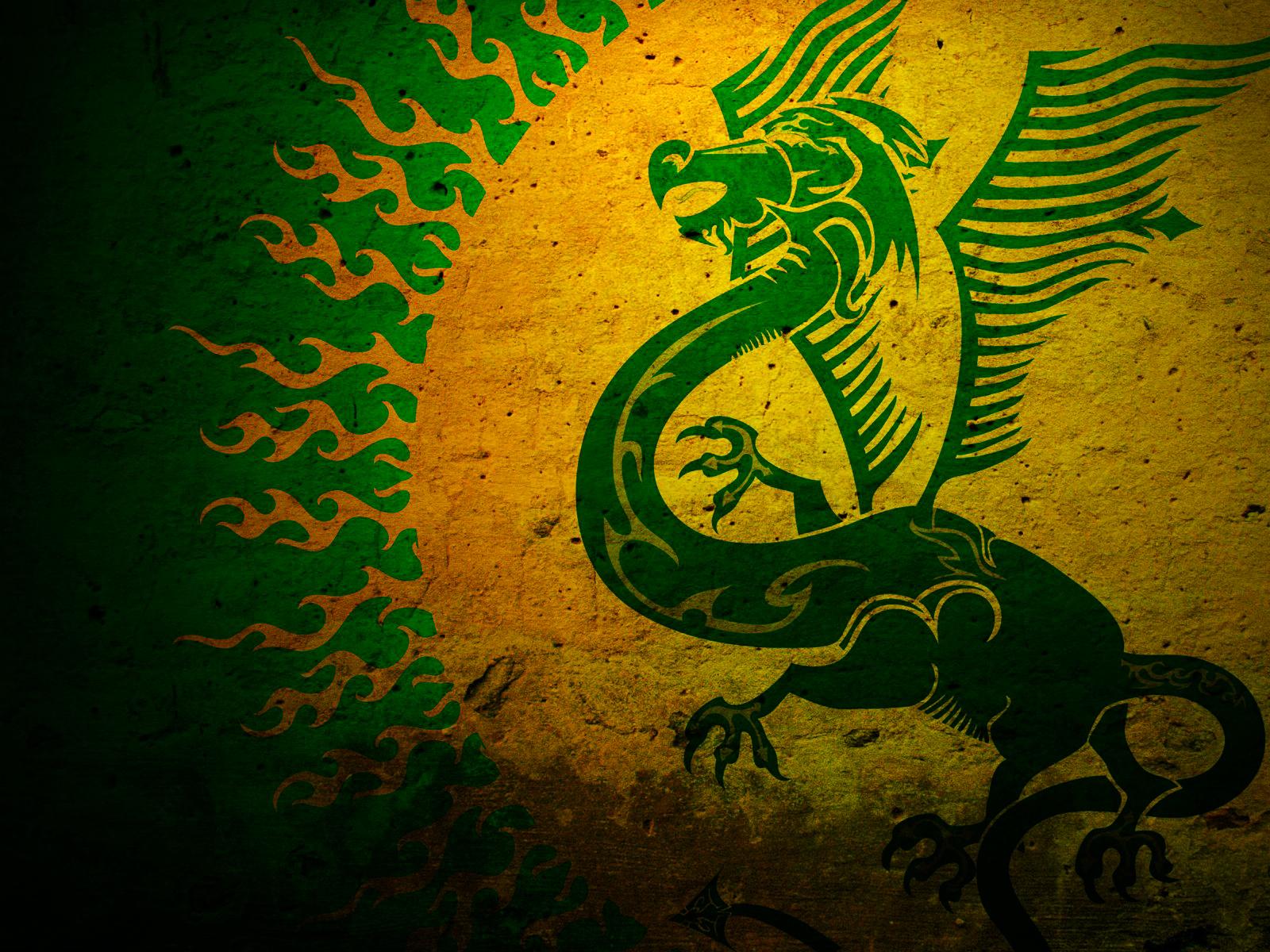 Green Dragon Symbol Wallpaper
