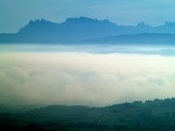 Montserrat des del Mirador de La Tossa