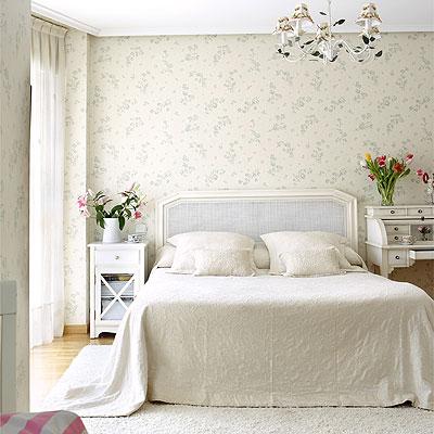 Decora el hogar decoraci n de las paredes con papel pintado - Dormitorio con papel pintado ...