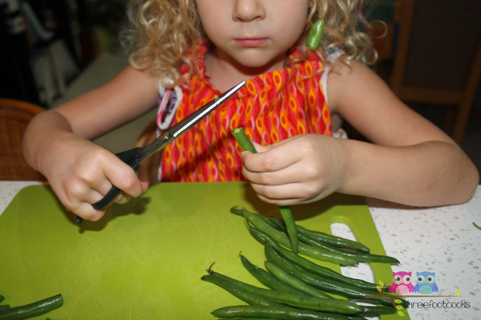 If your child is ready to use them, scissors are great for chopping vegies and herbs