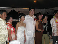 The newlyweds with their parents