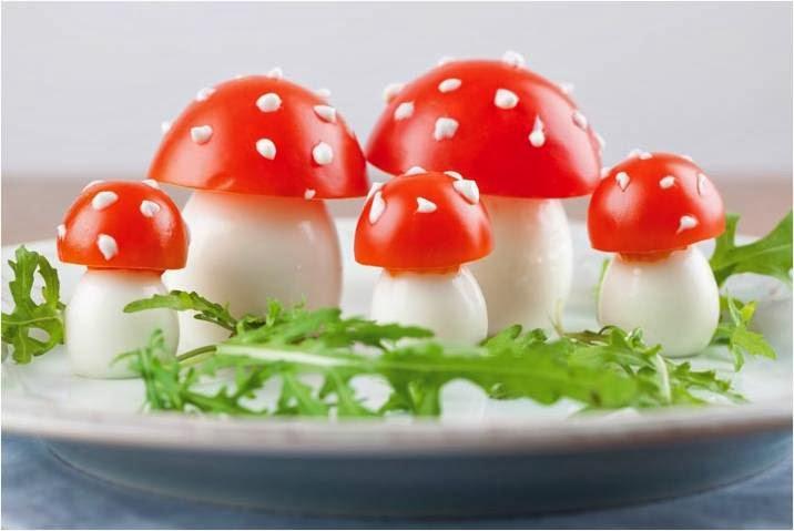 Как сделать грибы из помидоров 155