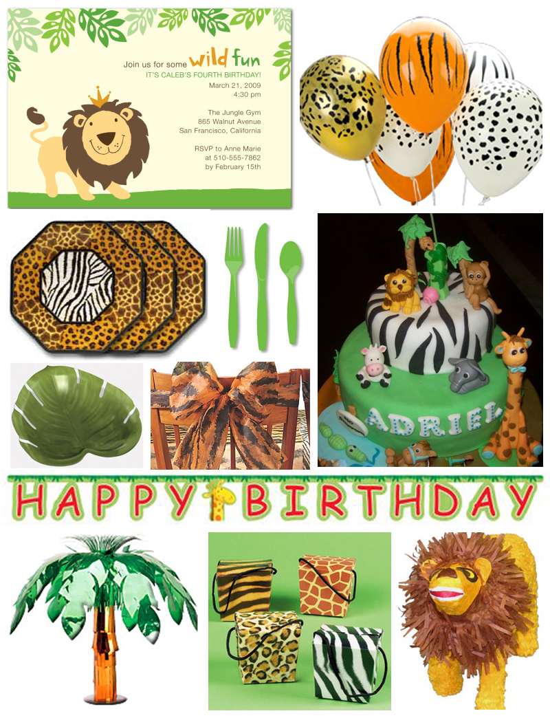 Birthday Party Jungle Party Ideas Concepts