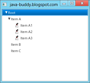 JavaFX TreeView with icon