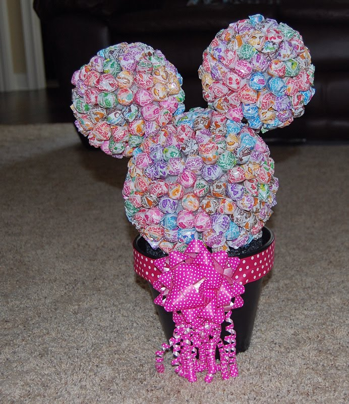 minnie mouse birthday party centerpiece ideas