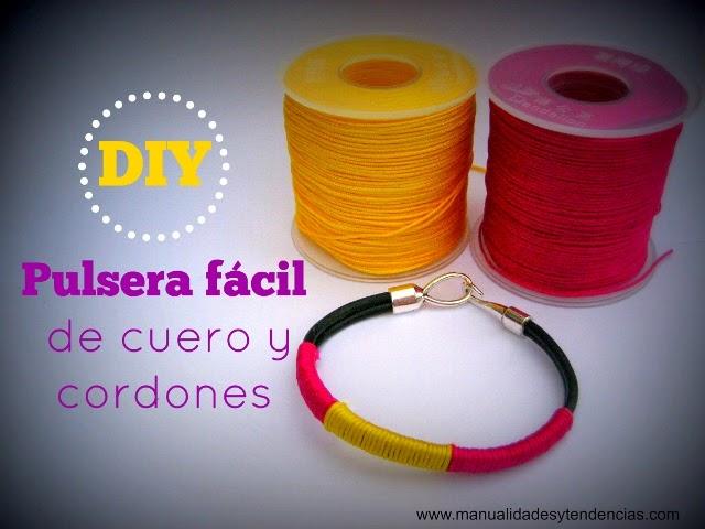 DIY pulsera de cuero / Leather bracelet / Bracelet en cuir