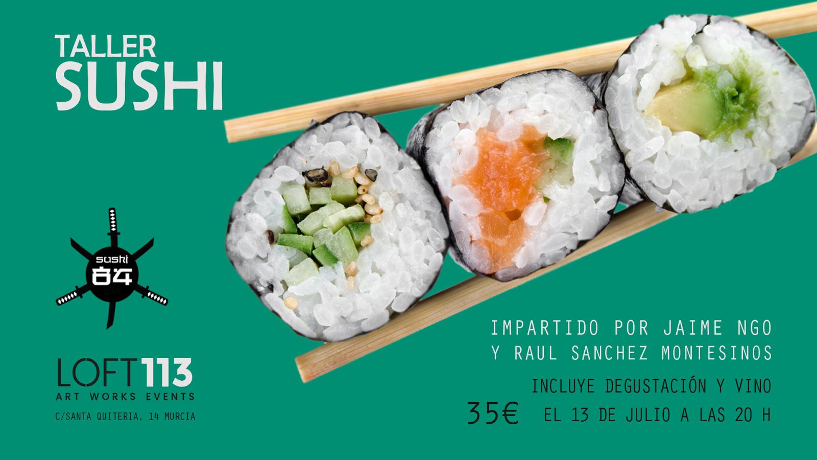Taller de sushi en Loft 113