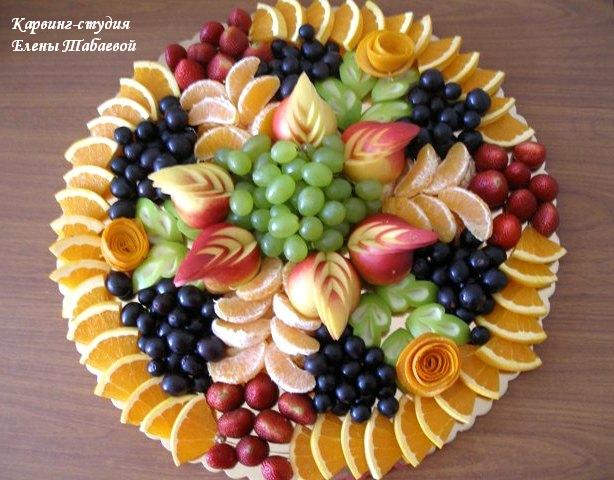 фруктовое блюдо на свадьбу