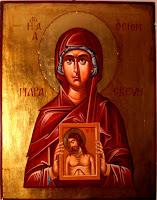 Sfanta mucenita Parascheva, icoana pictata pe lemn