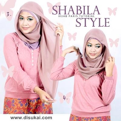 TURORIAL HIJAB PARIS : Shabila Style