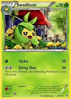 Swadloon Pokemon Card Noble Victories Set