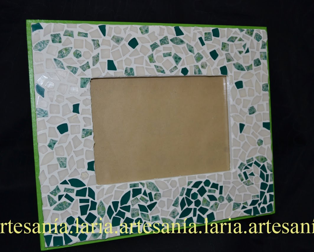 Artesan a laria marcos decorados con mosaico - Marcos decorados ...
