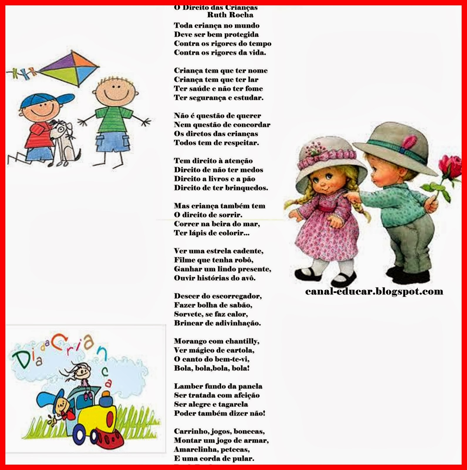 Super www.canal-educar.net: Mensagens - Dia das crianças SN96