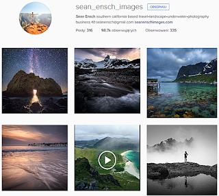 Sean Ensch, ciekawe profile podróżnicze, Instagram