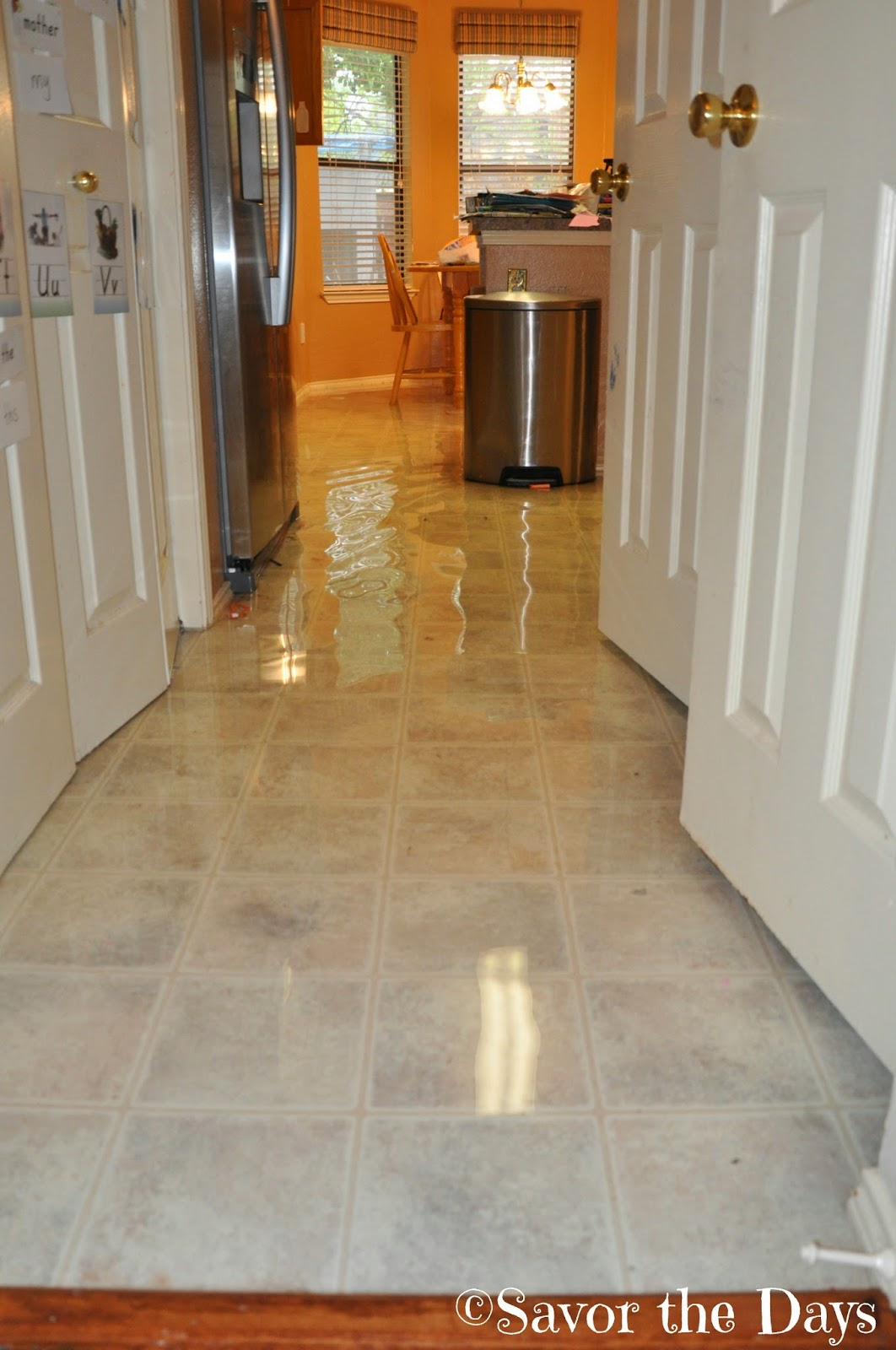 Wet Kitchen Floor Savor The Days Water Water Everywhere