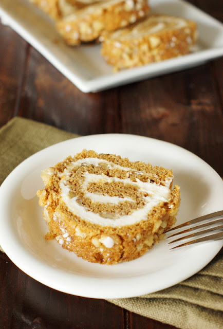 Classic Pumpkin Cake Roll with Cream Cheese Filling