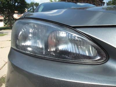 good as new headlights, fogged, car