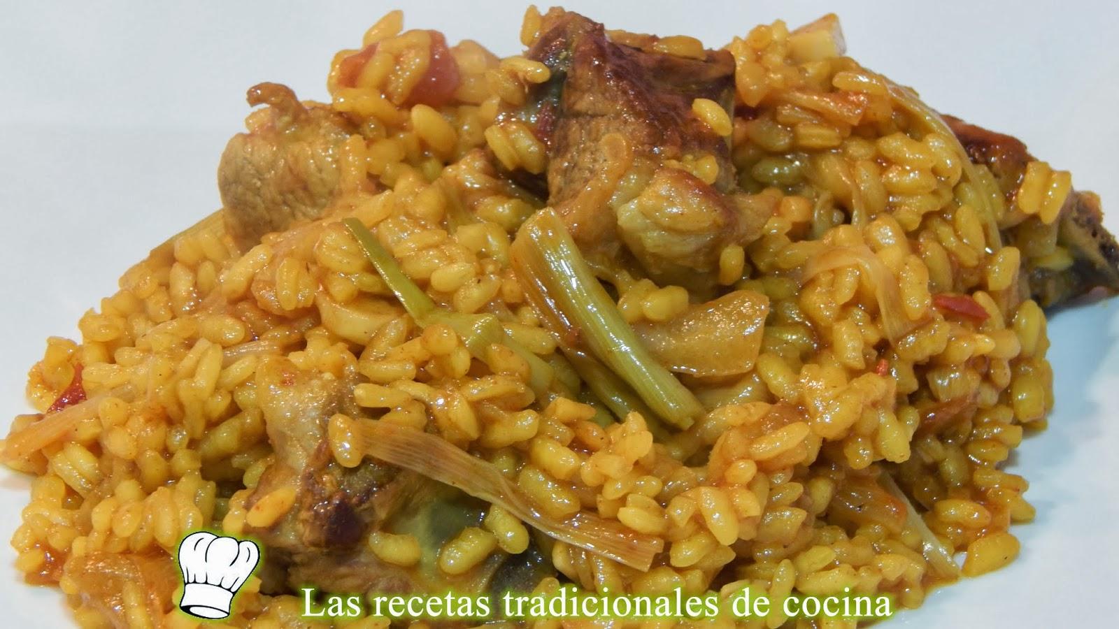 Receta de arroz con ajos tiernos y costillas recetas de - Arroz con alcachofas y jamon ...