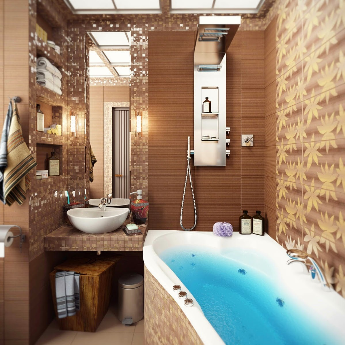 Wallpaper Ideas for Small Bathrooms