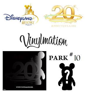 Disney Showcase Key Vinylmation 20 Ans Disneyland Paris